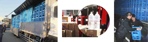 Donation of Bottled Water & Stock Piled Bottled water to the affected area